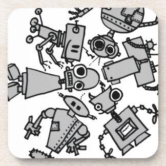 Grupo de robots posavasos