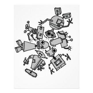 Grupo de robots membretes personalizados