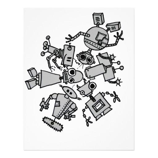 Grupo de robots membrete personalizado