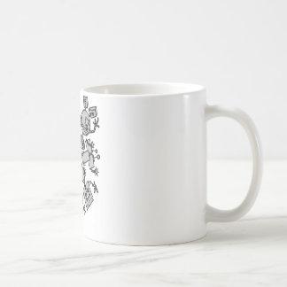 Grupo de robots tazas de café