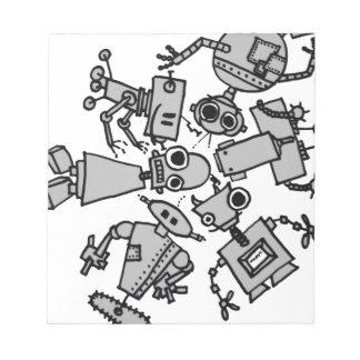 Grupo de robots blocs de papel