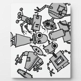 Grupo de robots placa de plastico