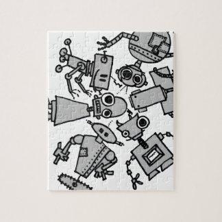 Grupo de robots rompecabezas