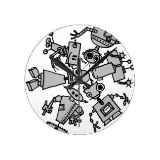 Grupo de robots reloj