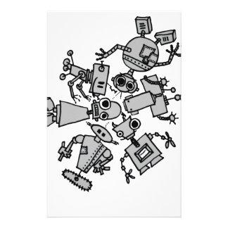 Grupo de robots  papeleria