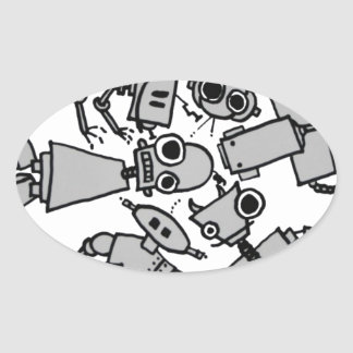 Grupo de robots etiqueta