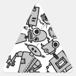 Grupo de robots pegatinas de triangulo personalizadas