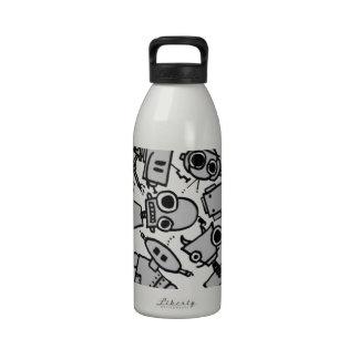 Grupo de robots botella de beber