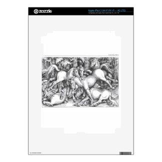 Grupo de siete caballos salvajes de Hans Baldung iPad 3 Skins