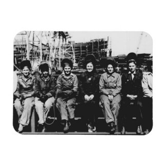 Grupo de soldadores de las mujeres durante la Segu Imán