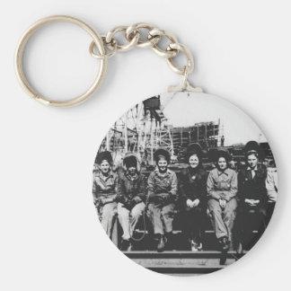 Grupo de soldadores de las mujeres durante la Segu Llavero Redondo Tipo Pin