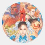 Grupo de Street Fighter 2 Chun-Li Pegatina Redonda