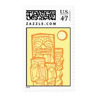 Grupo de Tikis Timbre Postal