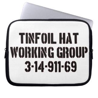 grupo de trabajo del gorra del papel de estaño funda ordendadores