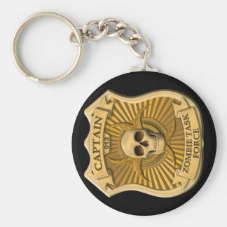 Grupo de trabajo del zombi - capitán Badge Llavero Personalizado