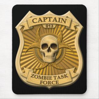 Grupo de trabajo del zombi - capitán Badge Alfombrilla De Ratón
