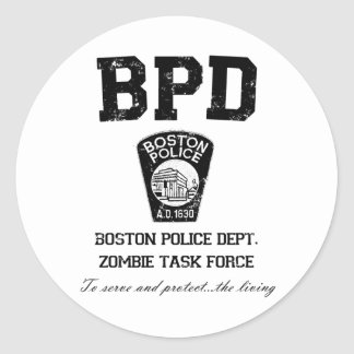 Grupo de trabajo del zombi del Departamento de Pegatina Redonda