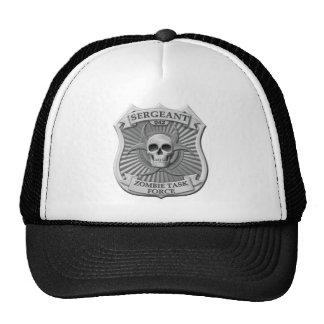 Grupo de trabajo del zombi - sargento Badge Gorros Bordados