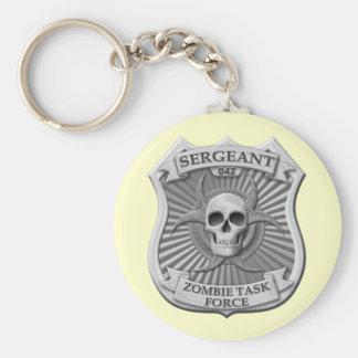 Grupo de trabajo del zombi - sargento Badge Llavero Personalizado