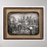 Grupo de veintitrés mineros en la esclusa [CA 1852 Poster