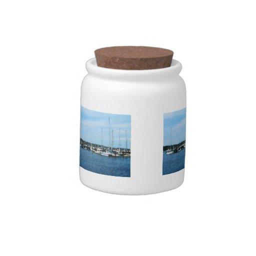 Grupo de veleros Newport RI Plato Para Caramelo