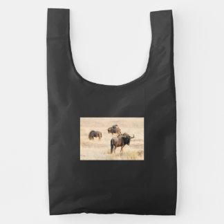 Grupo de wildebeest bolsa reutilizable
