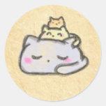 grupo del blobcat pegatina redonda