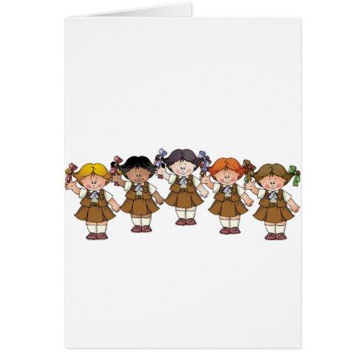 Grupo del brownie tarjeta