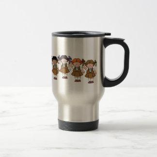 Grupo del brownie tazas de café