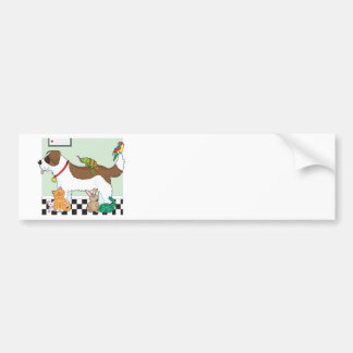 Grupo del mascota pegatina de parachoque