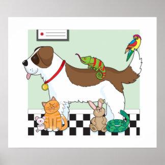 Grupo del mascota posters