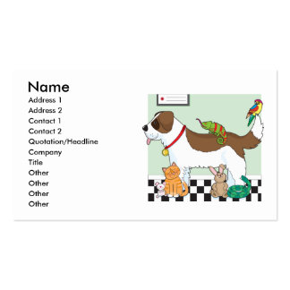 Grupo del mascota plantillas de tarjetas de visita