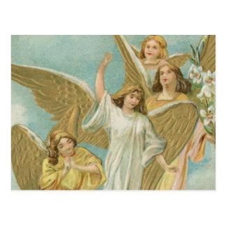 Grupo del vintage de ángeles del navidad tarjetas postales