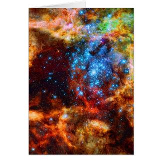 Grupo estelar, imagen del espacio exterior de la n tarjeta pequeña