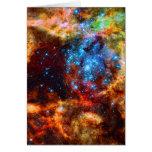 Grupo estelar, imagen del espacio exterior de la tarjeta pequeña