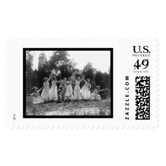 Grupo griego de la danza en Washington, DC 1924 Sello