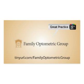Grupo optométrico de la familia plantillas de tarjetas de visita