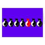 Grupo redondo del pingüino felicitaciones