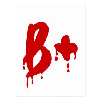 Grupo sanguíneo B+ Hospital positivo del #Horror Tarjeta Postal