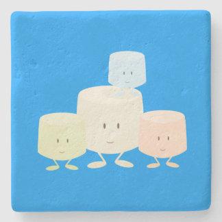 Grupo sonriente de la melcocha posavasos de piedra