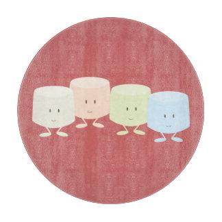 Grupo sonriente de la melcocha tablas de cortar