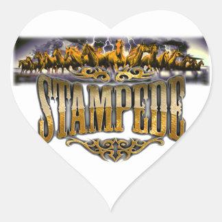 Grupo Stampede Merchandise! Heart Sticker
