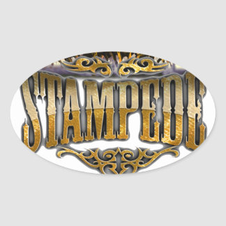 Grupo Stampede Merchandise! Oval Sticker