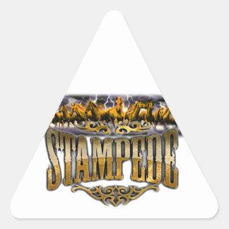 Grupo Stampede Merchandise! Triangle Sticker