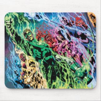 Grupo verde de la linterna - color alfombrilla de ratón