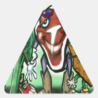 Grupos de alimentos pegatina triangular