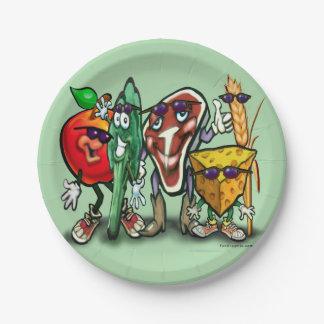 Grupos de alimentos plato de papel de 7 pulgadas