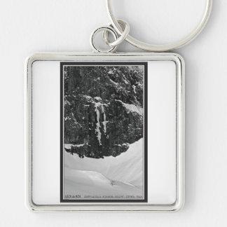 Gruppo del Sella - Lech de Boa Silver-Colored Square Keychain