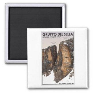 Gruppo del Sella - Nove and Dieci 2 Inch Square Magnet