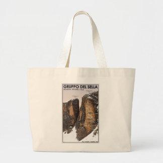 Gruppo del Sella - Nove and Dieci Large Tote Bag